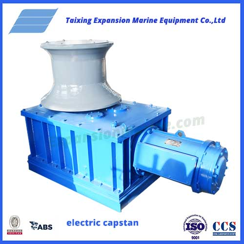 expansion marine manufactures 5T electric capstan