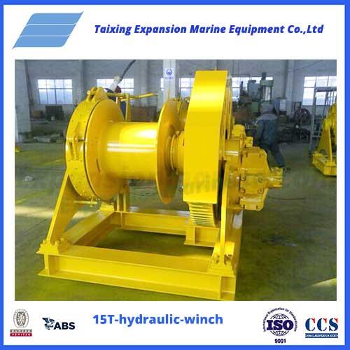 15T hydraulic tugger winch