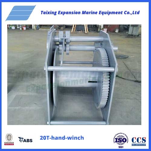 20T hand winch from expansion marine