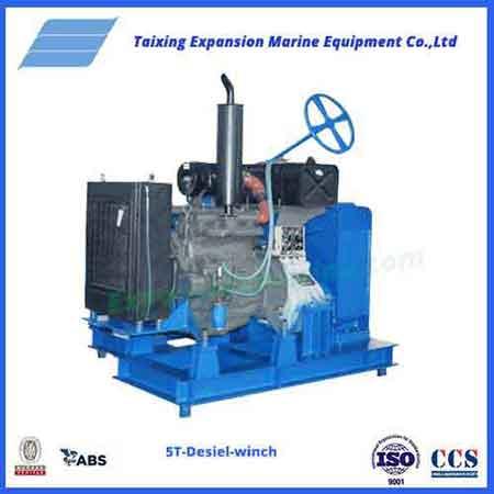 5T mooring diesel winch