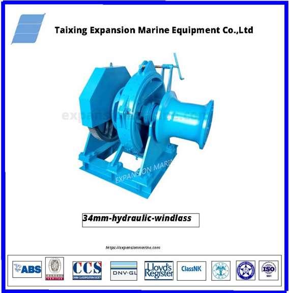 34mm hydraulic windlass